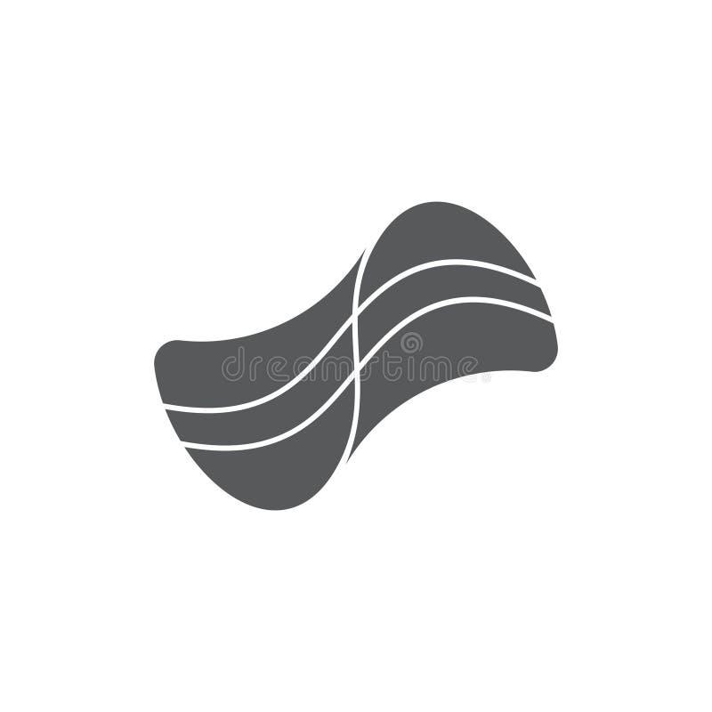 Stripes flow shape logo vector. Unique unusual simple luqury design concep stock illustration