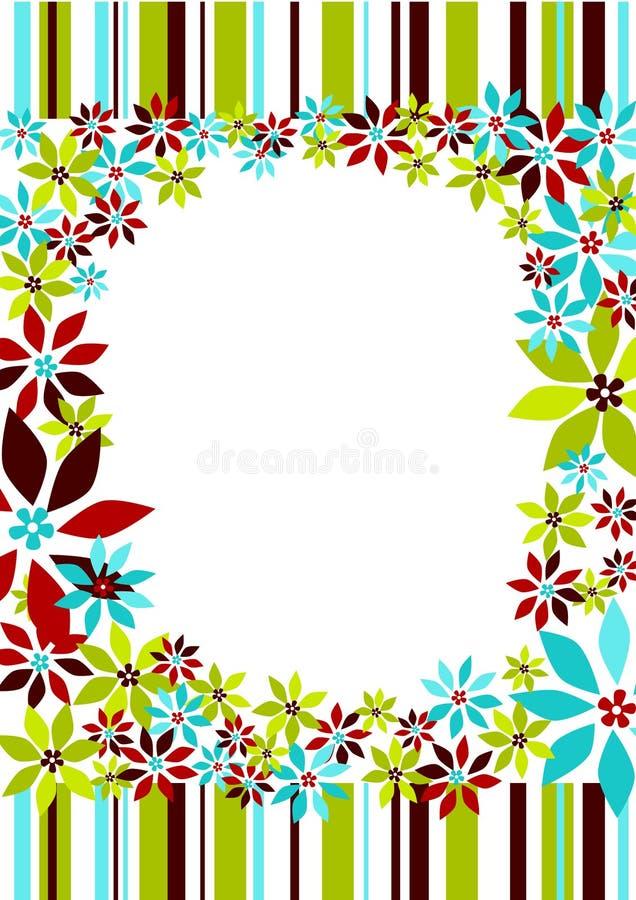 Download Stripes And Flowers Frame Border Stock Illustration - Illustration: 34477260