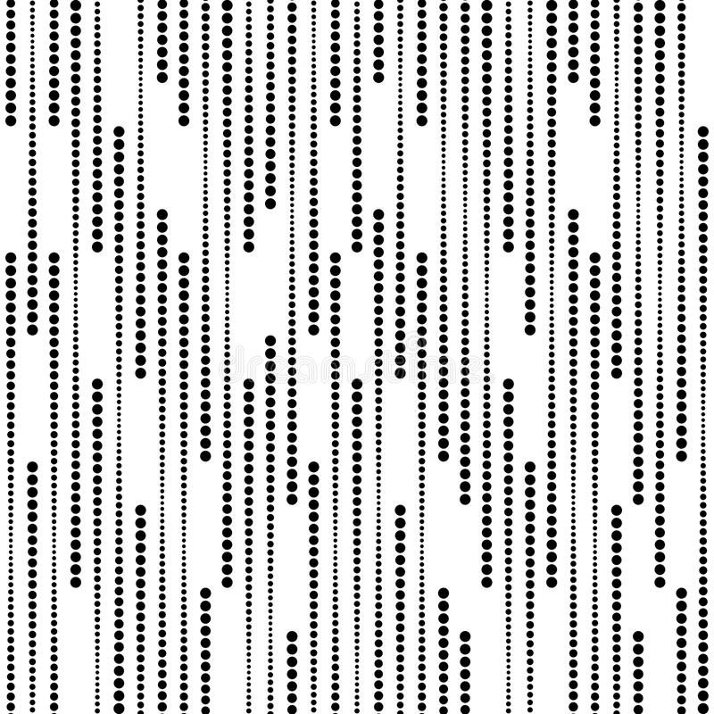Stripes of Halftone Dots, Vector Seamless Pattern vector illustration