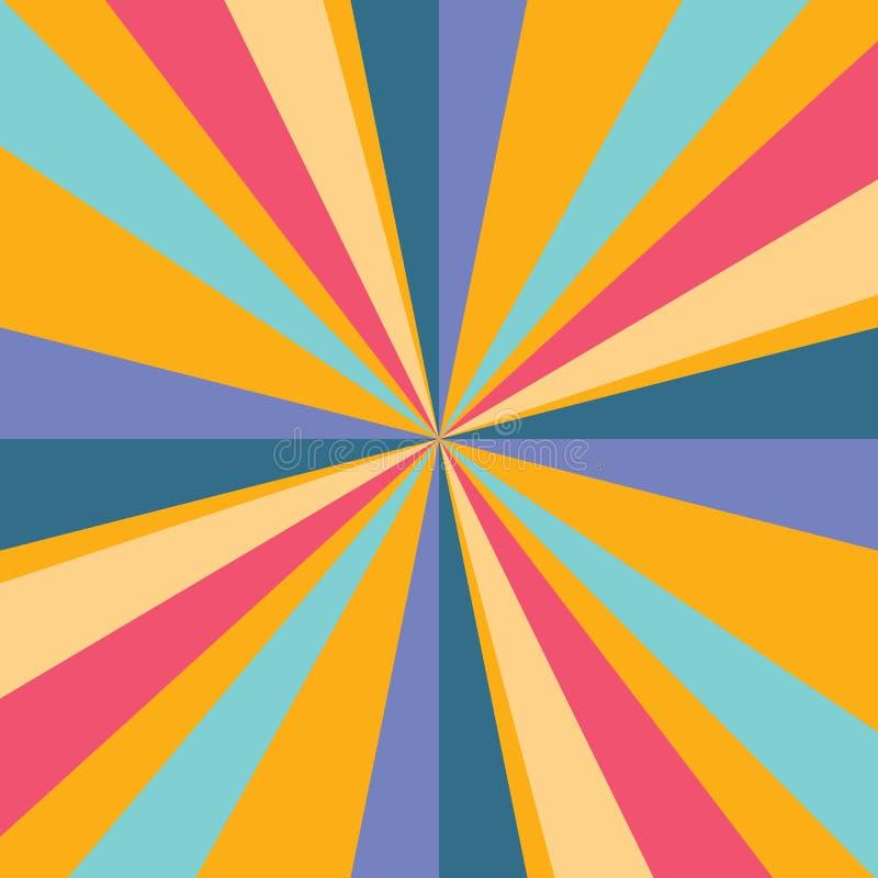 Stripes Hintergrund Orange, blaue, rote Farbabstrakter Streifenhintergrundvektor eps10 lizenzfreie abbildung