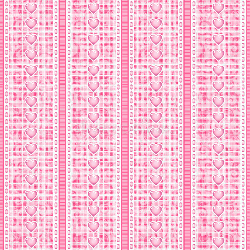Download Stripes And Laces Pink Silk Tulle Seamless Pattern Stock Vector - Image: 25066360