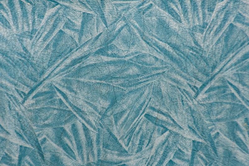 Stripes leather blue Used as a background. royalty free stock photography