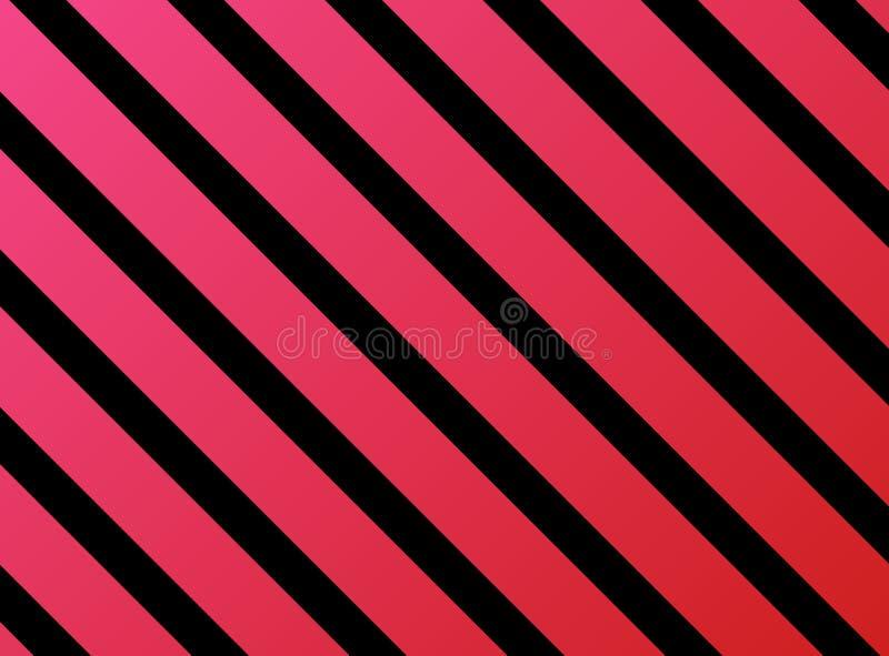 Stripes red pink black stock illustration