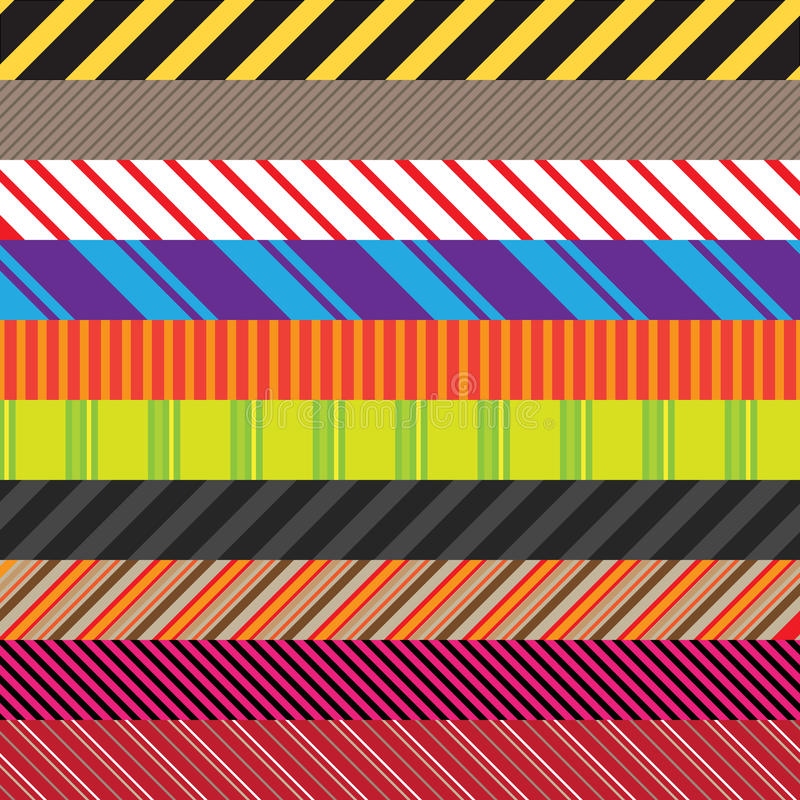 Stripes Variety Pack Stock Images