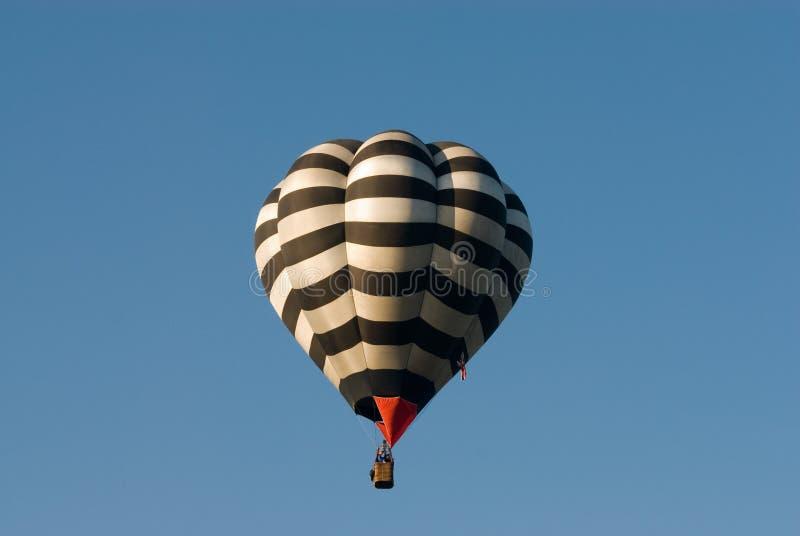 Stripey hot air balloon stock photos