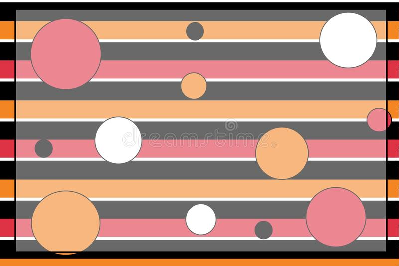 Download Stripey Polka Dot Background Stock Illustration - Illustration of details, dots: 11975777