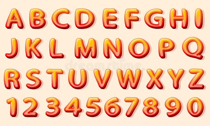 Strippagina oranje doopvont op de witte achtergrond vector illustratie