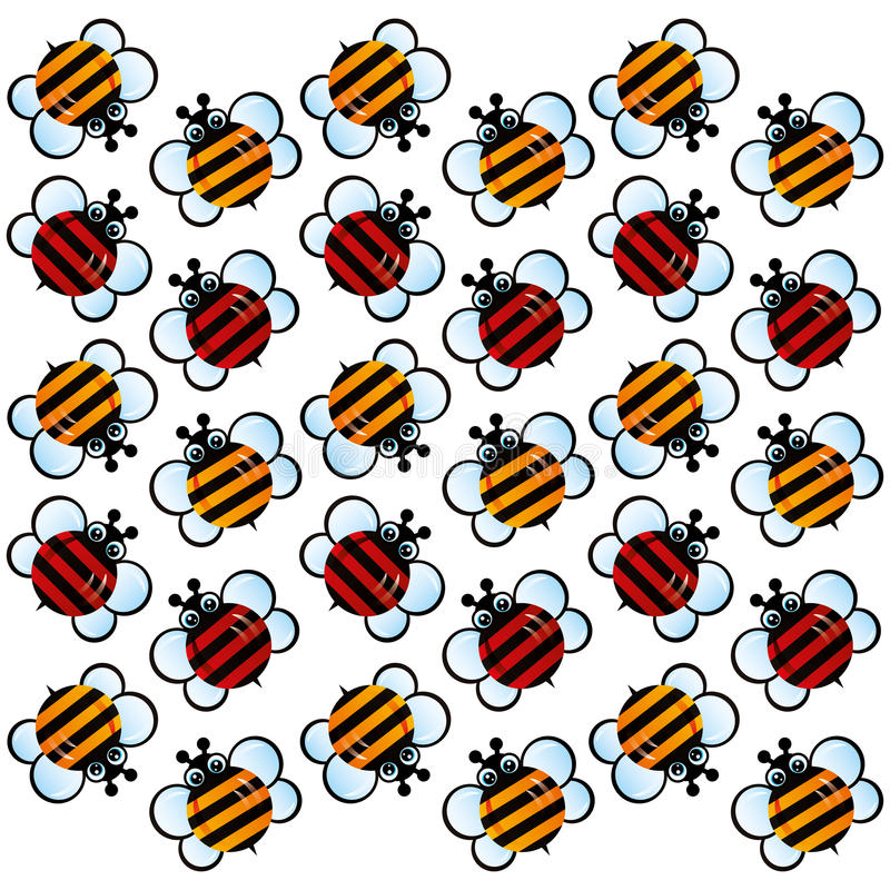 Download Stripped Bee pattern stock illustration. Illustration of yellow - 65824402