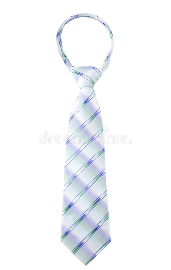 Download Stripped Blue Tie With Tied Windsor Knot Stock Image - Image: 13575117
