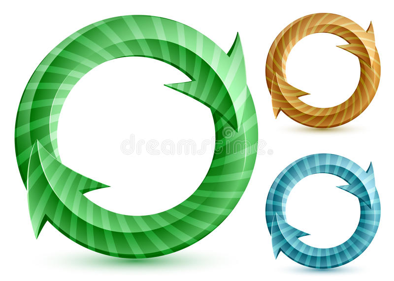 Download Stripped circular arrows stock vector. Image of blue - 20075373