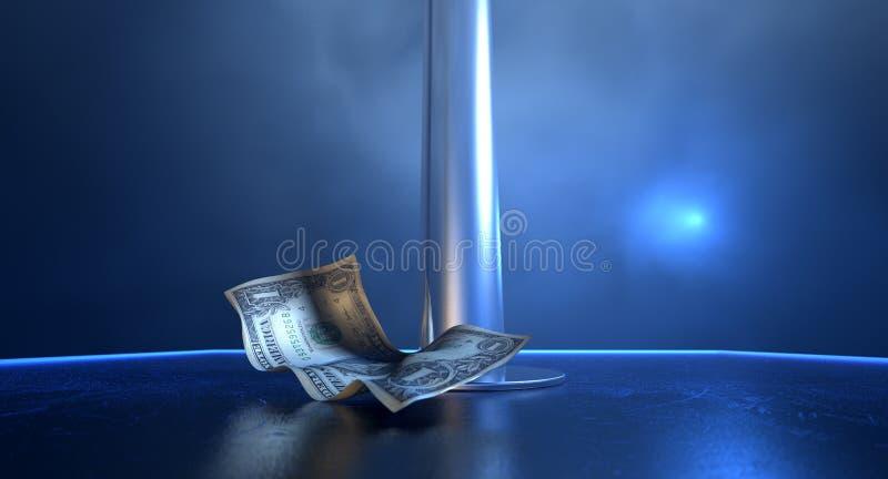 Stripper άκρες στη σκηνή στοκ φωτογραφία με δικαίωμα ελεύθερης χρήσης