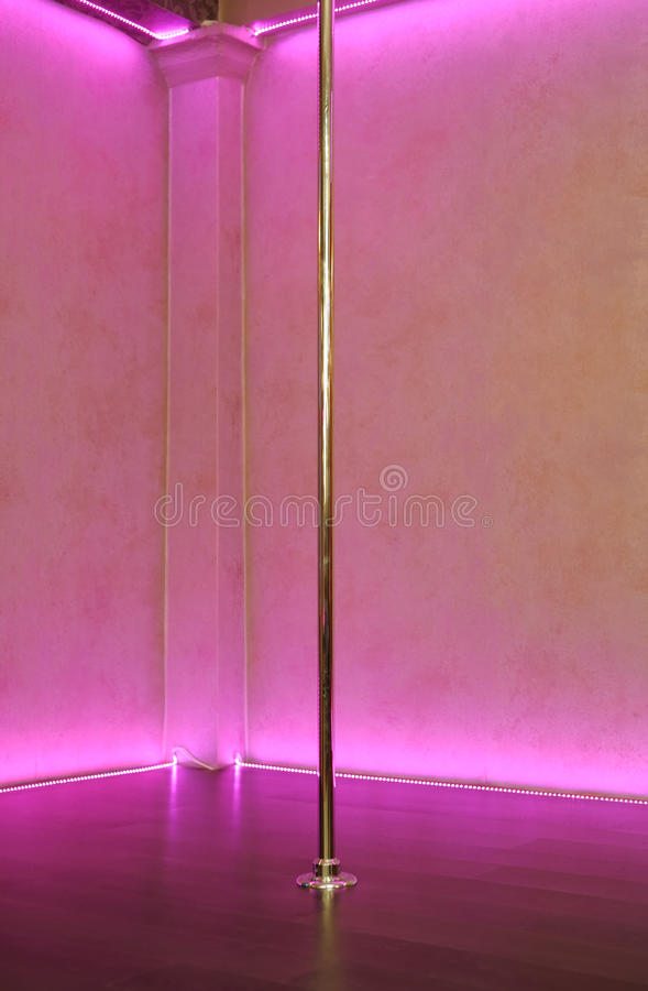 Free Stripper Pole Background Royalty Free Stock Photo - 34824265