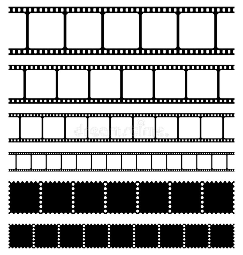 Download Strips film and stamps set stock vector. Image of pack - 8956167
