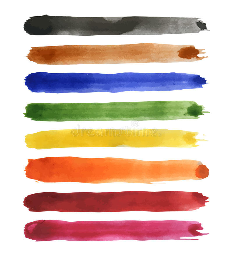Free Strips Of Watercolor Royalty Free Stock Image - 49772656
