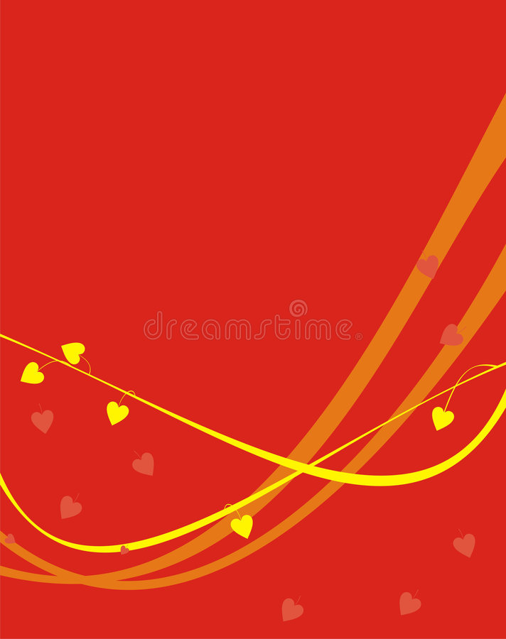 Strips of yellow and orange royalty free illustration