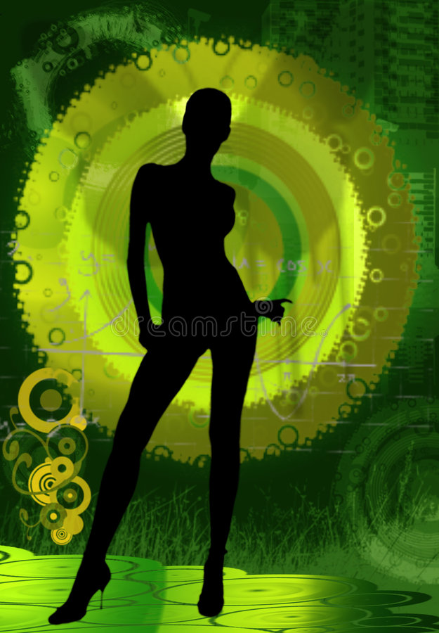Striptease vector illustratie
