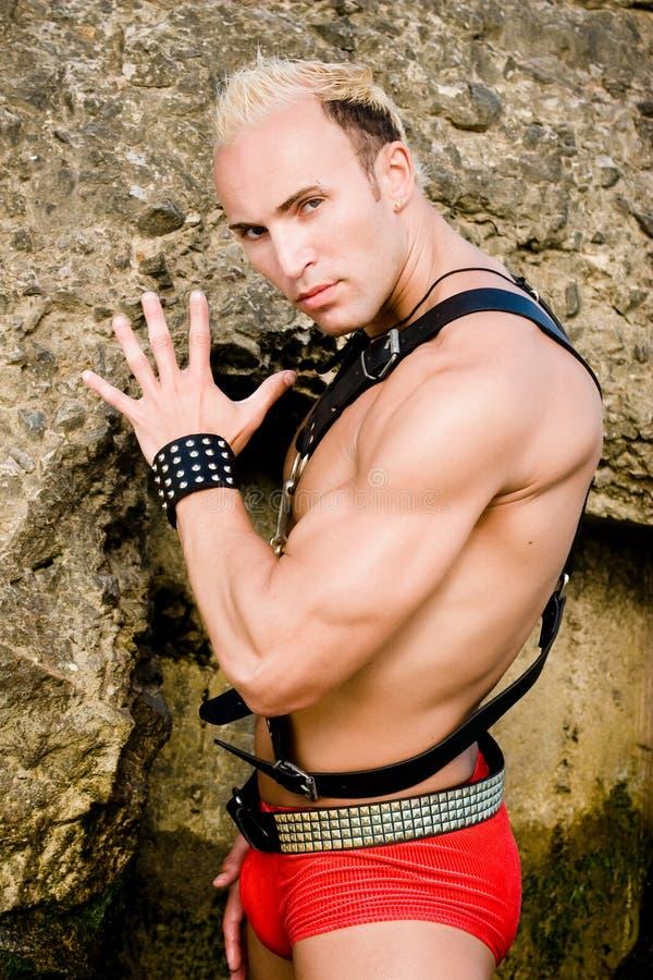 striptizerka mężczyzną fotografia stock