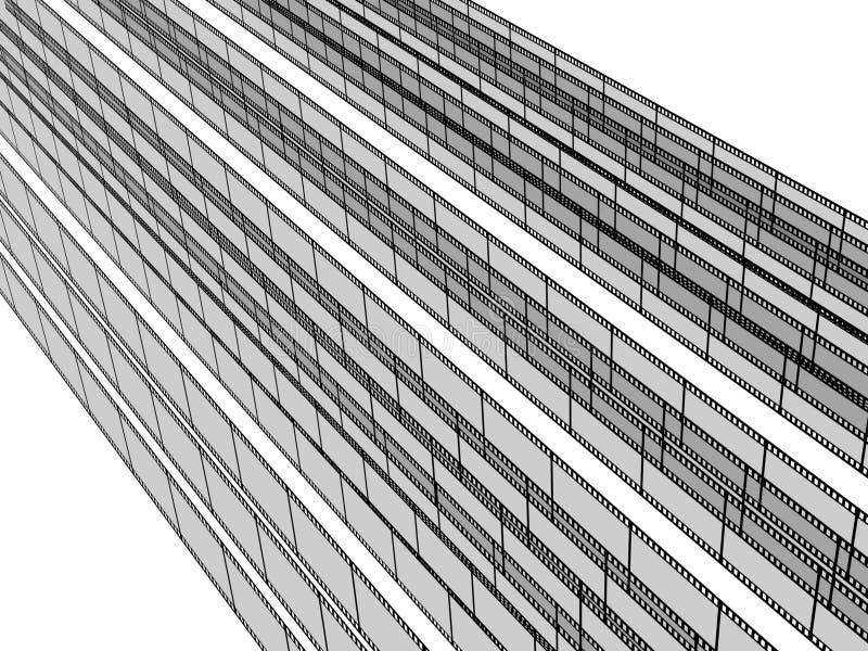 strisce in bianco della pellicola 3d royalty illustrazione gratis