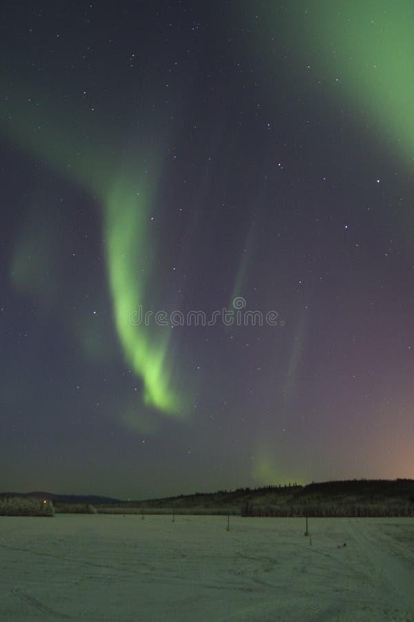 Strisce dell'aurora boreale fotografia stock libera da diritti