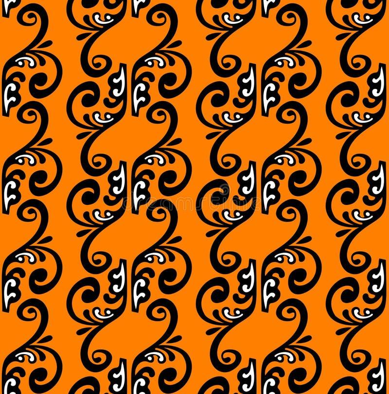 Strisce del Patten su priorità bassa arancione. illustrazione vettoriale