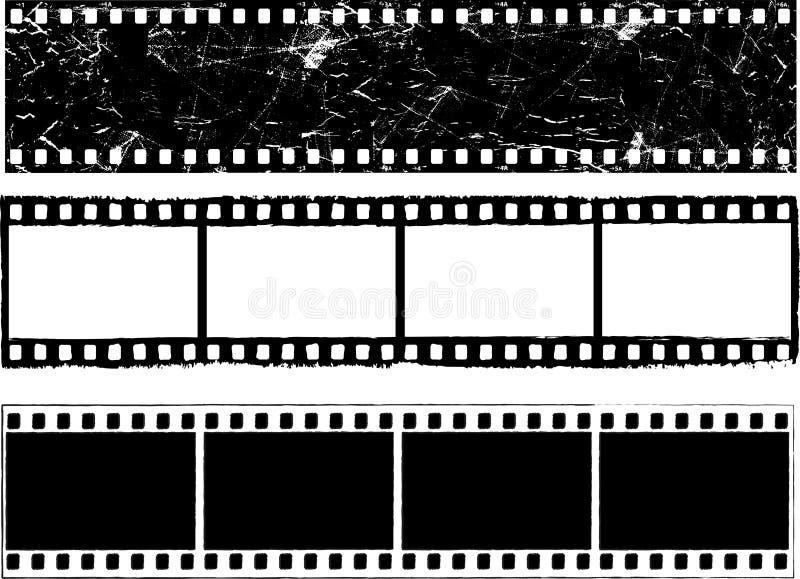 Strisce della pellicola di Grunge illustrazione di stock