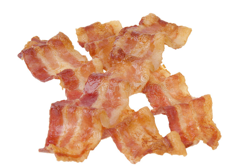 Download Strisce di bacon fritte fotografia stock. Immagine di croccante - 30826410