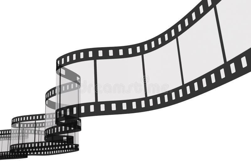 striscia della pellicola 3d illustrazione vettoriale