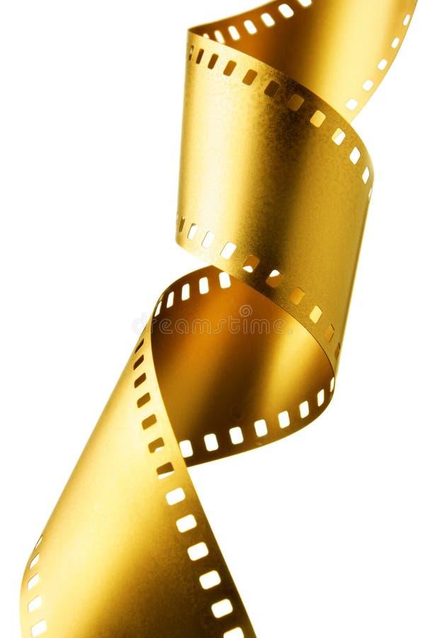 Striscia della pellicola dell'oro fotografia stock