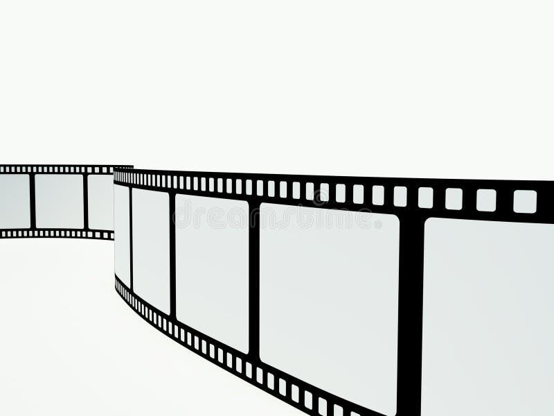 Striscia della pellicola sui precedenti bianchi fotografia stock libera da diritti