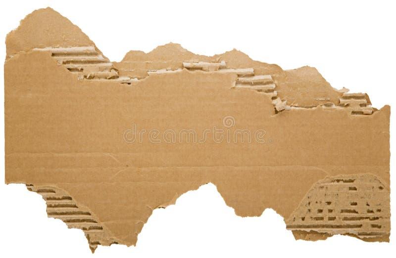Striscia di cartone lacerata fotografie stock libere da diritti