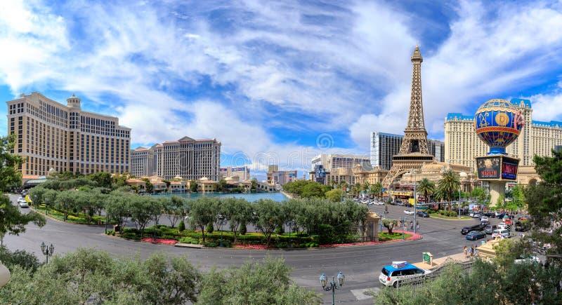 Striscia di fama mondiale di Las Vegas a Las Vegas, Nevada La striscia di Vegas è domestica ai più grandi hotel e casinò nel mond fotografia stock libera da diritti