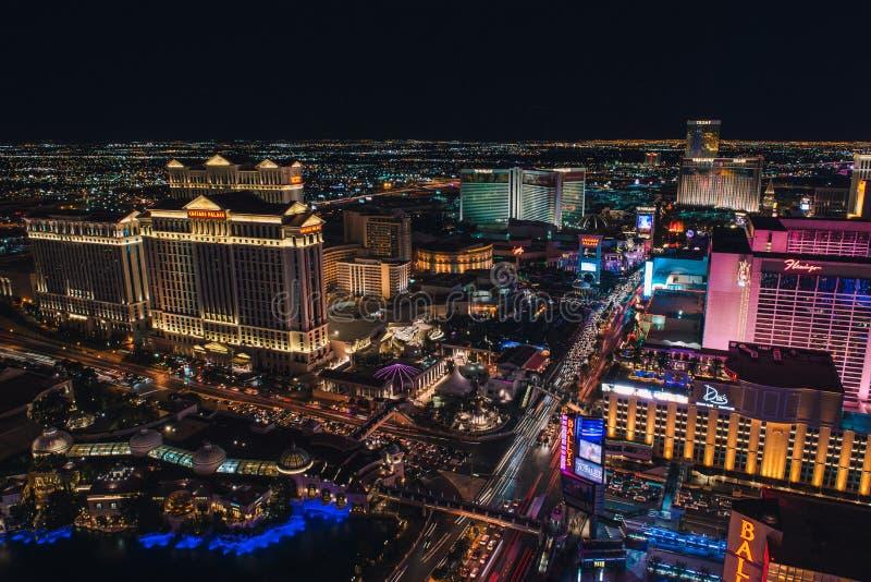 Striscia di Las Vegas dalla torre Eiffel immagine stock libera da diritti