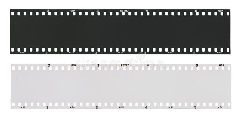 Striscia di pellicola in bianco e nero vuota fotografia stock libera da diritti