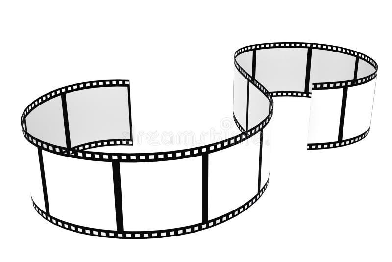 Striscia di pellicola isolata con fondo bianco illustrazione di stock