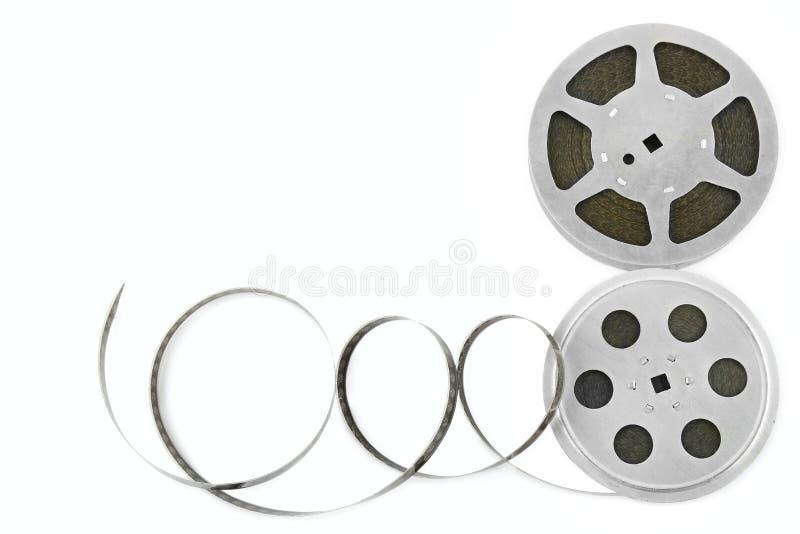 Striscia di pellicola isolata su fondo bianco immagini stock