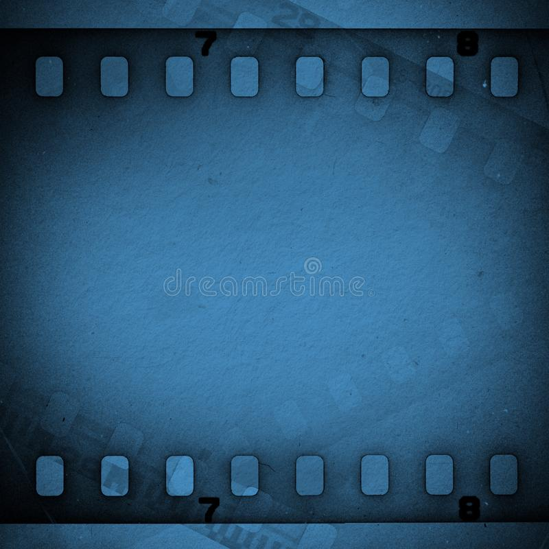 Striscia di pellicola sporca graffiata lerciume scuro Priorità bassa per una scheda dell'invito o una congratulazione illustrazione vettoriale