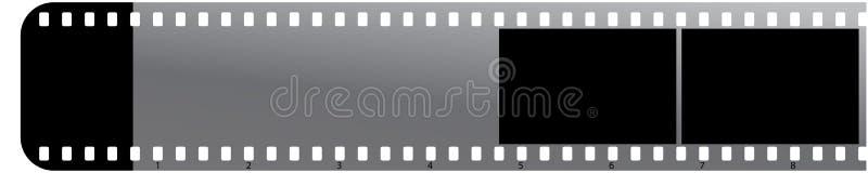 Striscia di pellicola sull'icona bianca di background illustrazione vettoriale