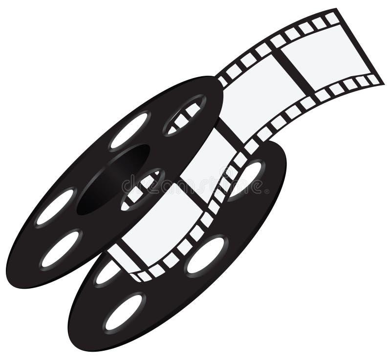 Striscia di pellicola sulla bobina illustrazione di stock