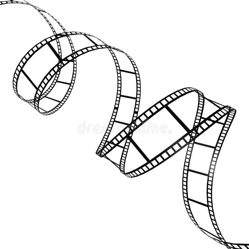 Striscia di pellicola torta illustrazione vettoriale