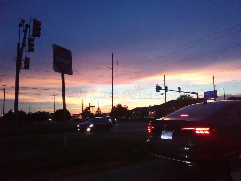 Striscia di tramonto fotografia stock