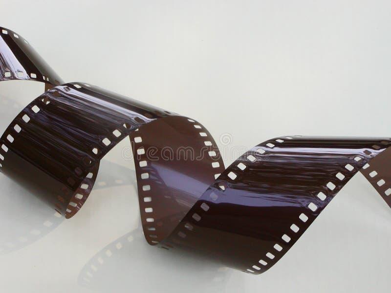 Striscia riccia della pellicola immagini stock