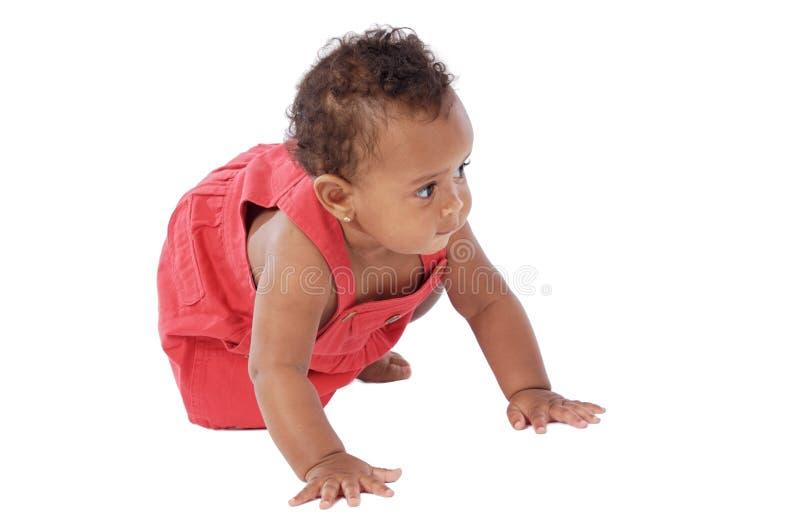 Strisciare adorabile del bambino fotografia stock libera da diritti