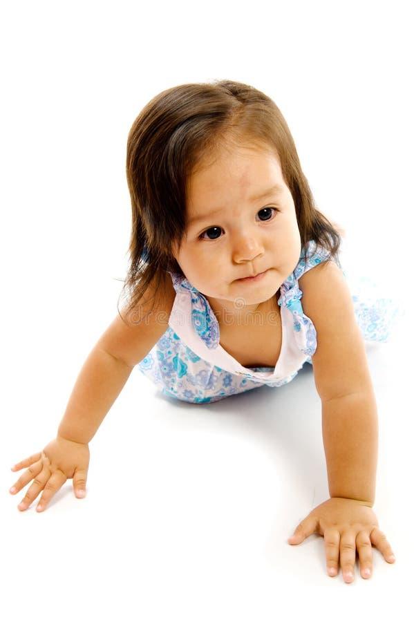 Strisciare della neonata fotografia stock