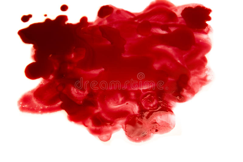 Striscio di sangue (macchia) fotografia stock libera da diritti