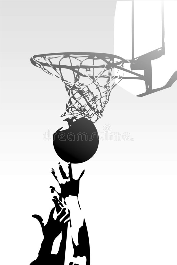 Striving for Success in Sport - Basketball royalty free stock photos