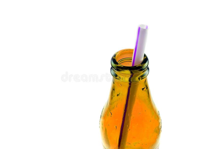 Stro in een fles stock foto's