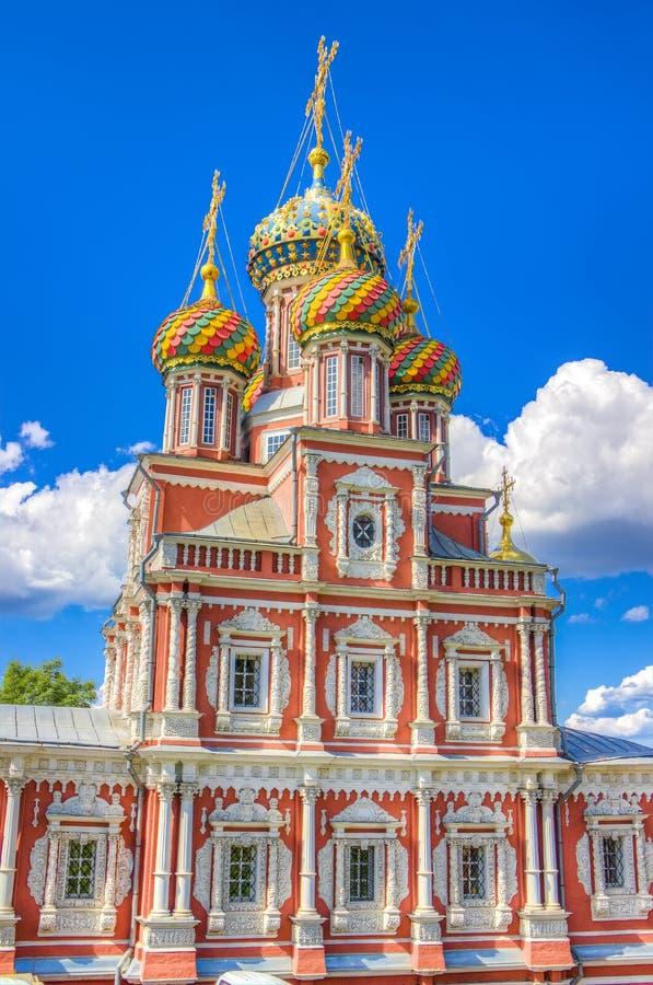 Stroganov Kościelny Nizhny Novgorod Rosja fotografia royalty free