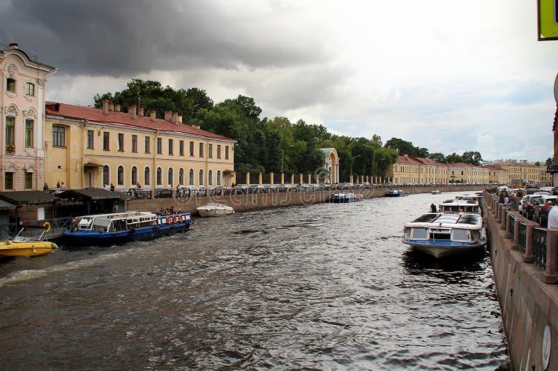 Stroganov slott på invallningen av den Moika floden royaltyfri foto