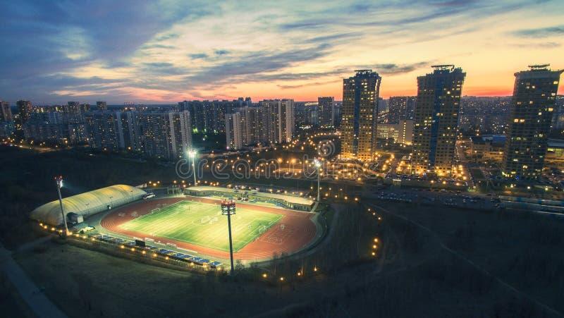 Strogino Yantar Stadium royalty free stock photography