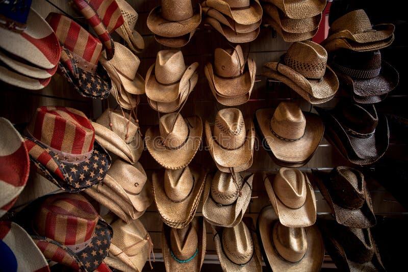 StrohCowboyhüte stockbilder